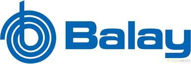 Electromundo - Reparação de electrodomésticos - Esta imagem representa o logotipo da Balay. Trata-se de um símbolo simples com as letras da marca arredondadas. Tem uma espécie de espiral no início do símbolo. A côr de fundo é branco e a cor das letras e do símbolo a azul.