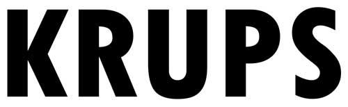 Electromundo - Reparação de electrodomésticos - Esta imagem representa o logotipo da KRUPS. Trata-se de um símbolo simples com as letras da marca arredondadas. A cor de fundo é branco e a cor das letras e do símbolo a cor preto.