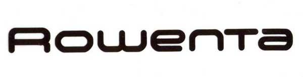 Electromundo - Reparação de electrodomésticos - Esta imagem representa o logotipo da rowenta. Trata-se de um símbolo simples com as letras da marca arredondadas. A côr de fundo é branco e as letras são de cor pretas