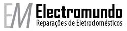 O logitipo da Electromundo representa a empresa através da imagem da corrente elétrica e dos electrodomésticos